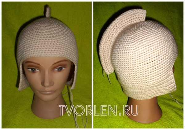 шапка шлем крючком от Галины Сапегиной