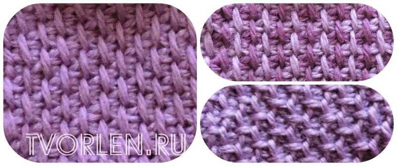 Снятые петли в технике тунисского вязания (1)