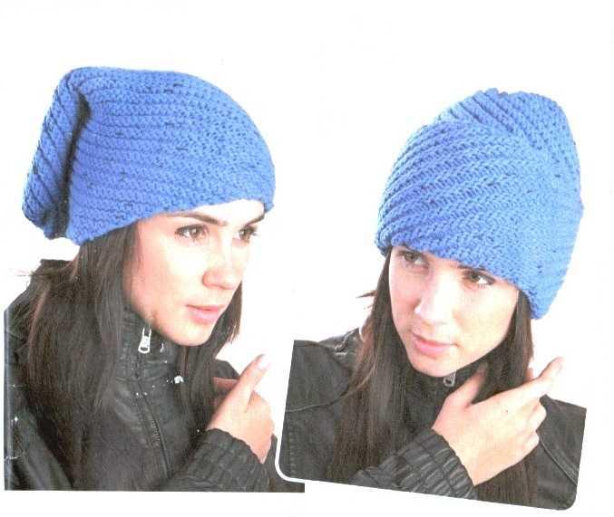 Вязание шапок спицами по диагонали 766