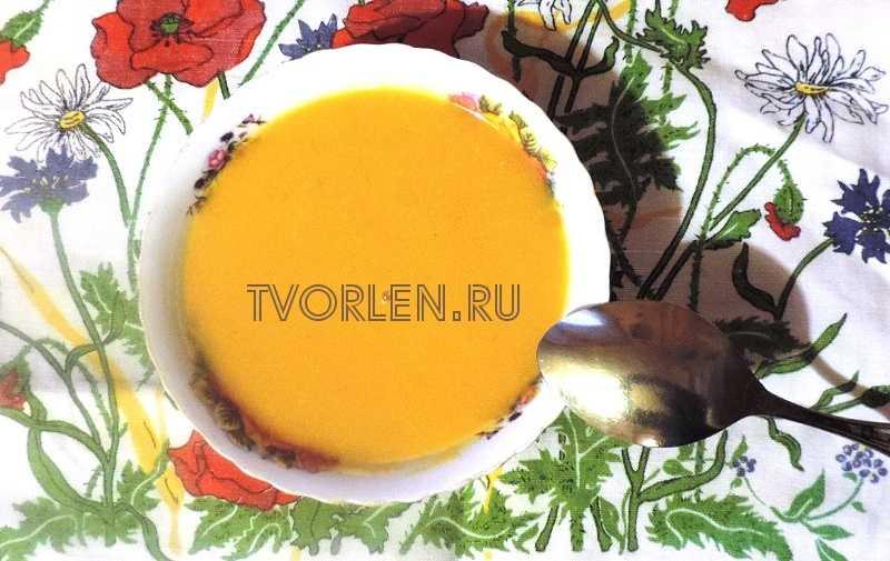 тыквенный суп-пюре на курином бульоне