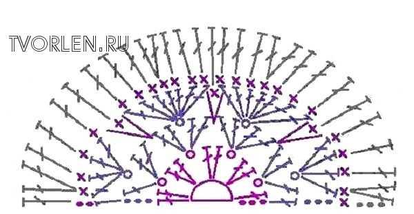 шестиугольный мотив африканский цветок-половинка