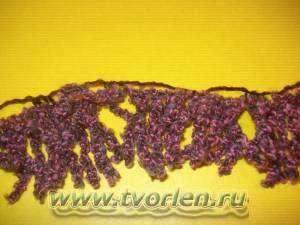 мк по вязанию шарфа из ленточной пряжи