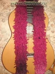 шарф из ленточной пряжи (2)