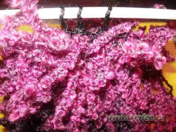 шарф из пряжи о-ла-ла спицами (8)