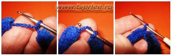 вяжем шарф из пряжи с помпонами (18)