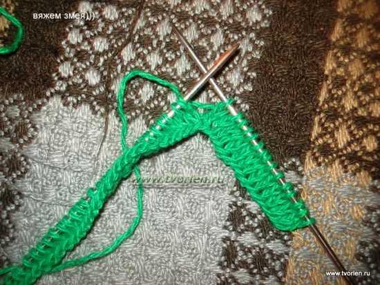 змея спицами (10)