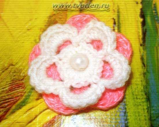 простой цветочек крючком (2)