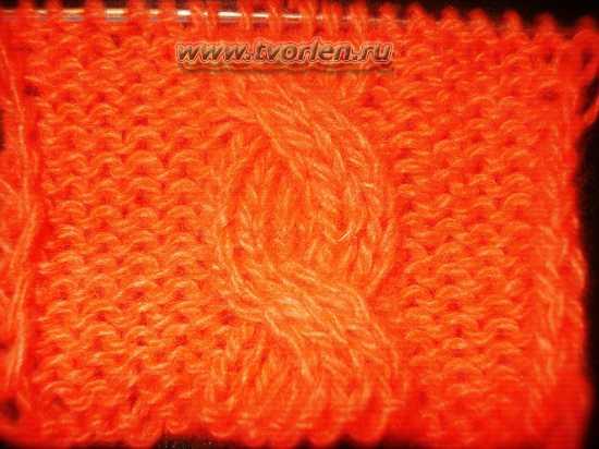 вяжем косу спицами (7)