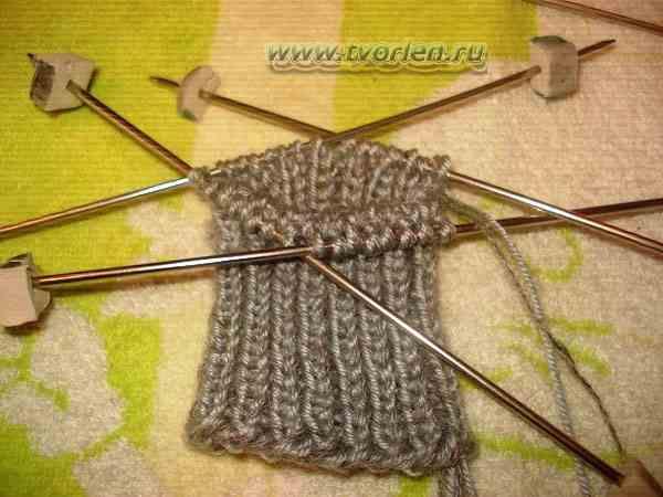 вяжем носки на пяти спицах (2)