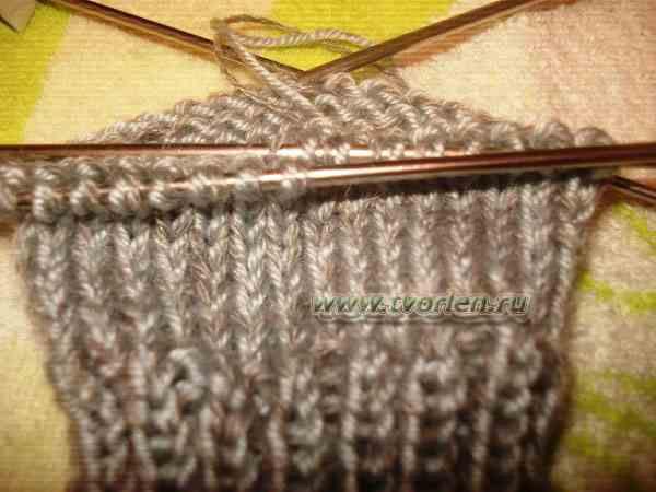 вяжем носки на пяти спицах (3)
