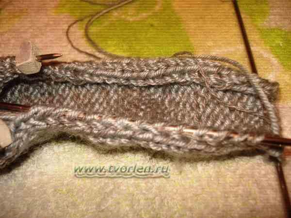 вяжем носки на пяти спицах (6)