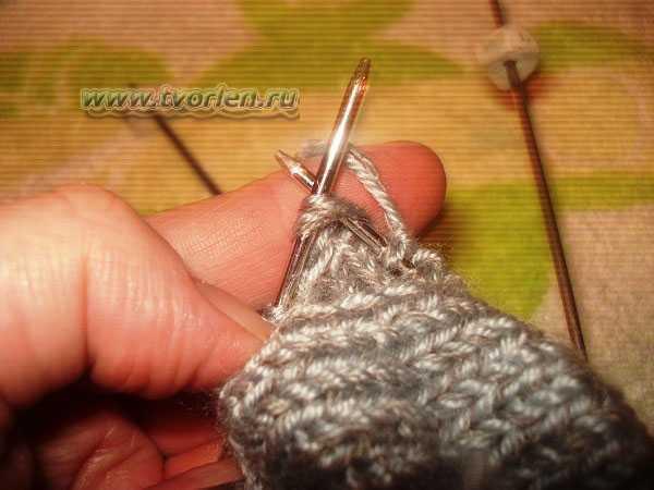 вяжем носки на пяти спицах (9)