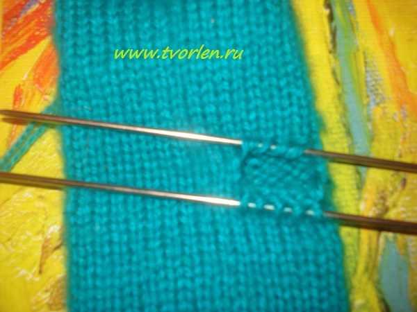 вяжем простые варежки спицами (5)