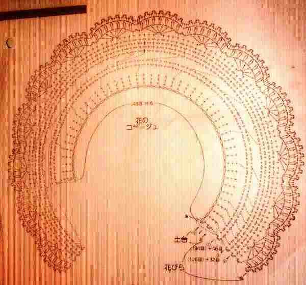 объёмный цветочек крючком - схема (1)