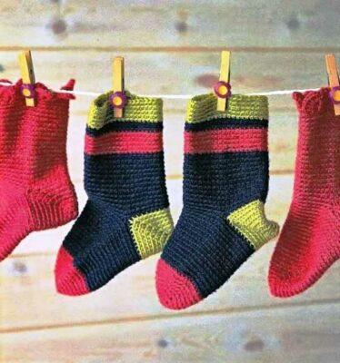 вязание-носков