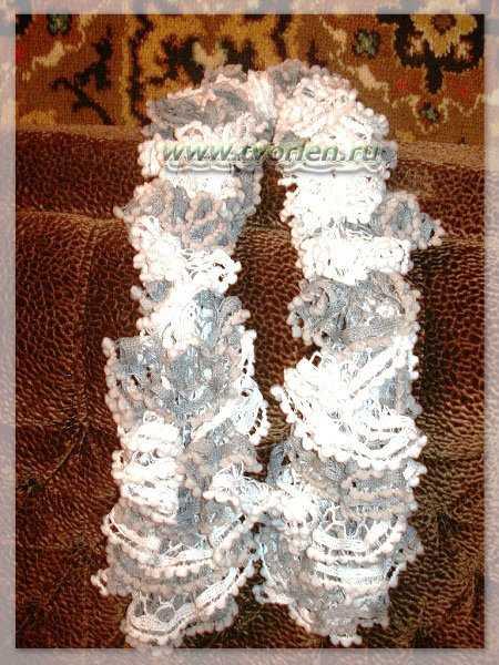 романтический шарф крючком (4)