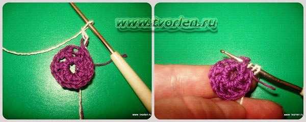 объемный цветок крючком (1)