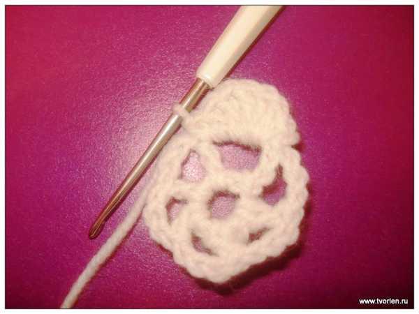 объемный цветок крючком (3)