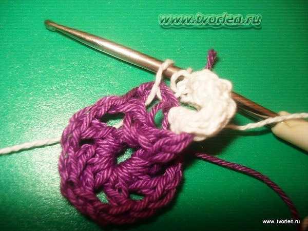 объемный цветок крючком (6)