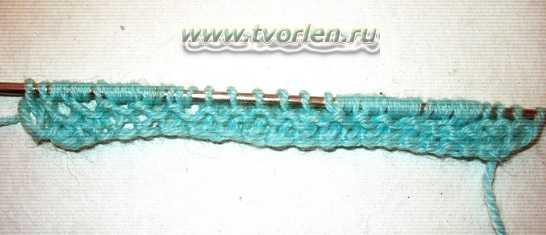 узор спицами с вытянутыми петлями (2)