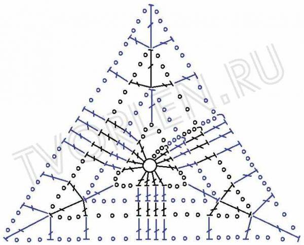 Треугольный мотив с геометрическим рисунком (2)
