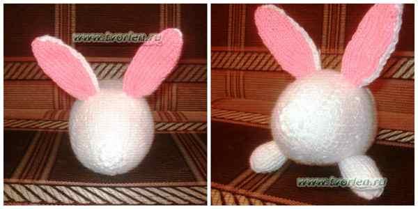 белый кролик спицами (1)