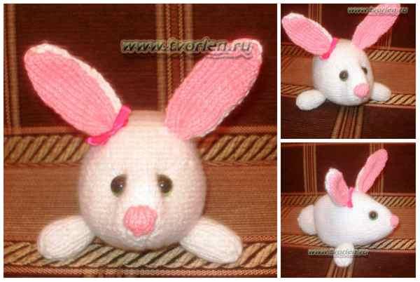белый кролик спицами (2)