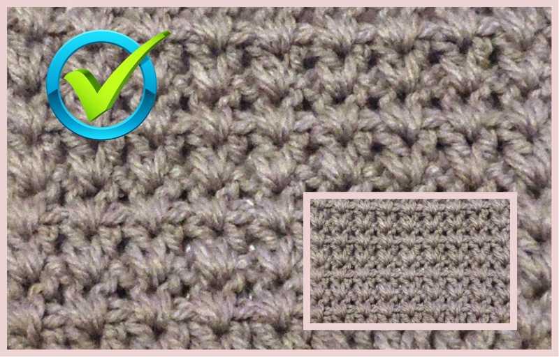 Галочки – самый простой узор крючком