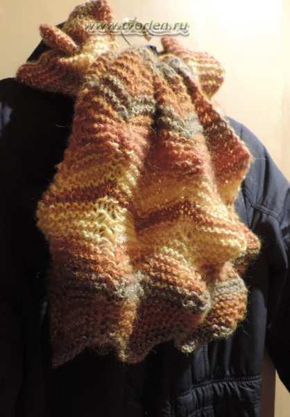 простой шарф спицами