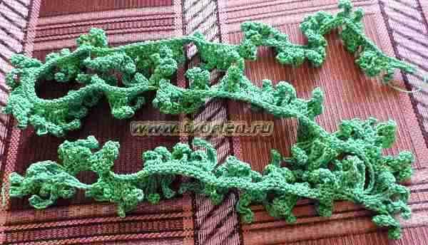 вязаная ёлочка - лента