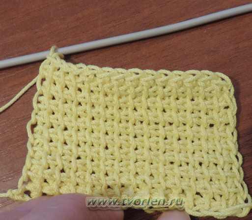 плетенка - простое тунисское вязание (15)