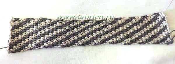 тунисская вязка крючком