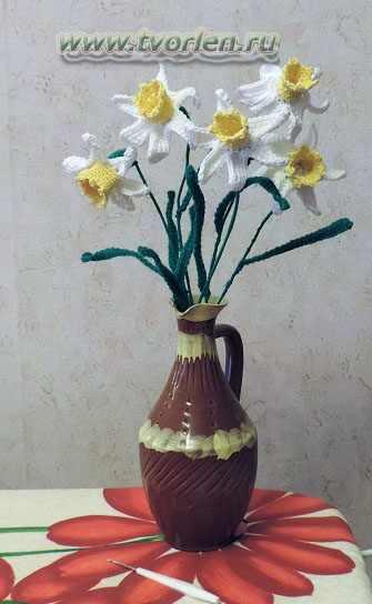 цветок нарцисса крючком(7)