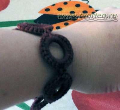 вязаный браслет на кольцах3