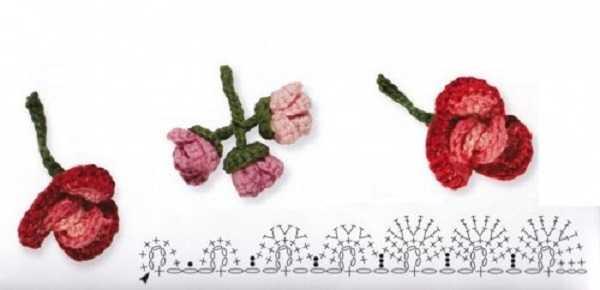 схема вязания цветка крючком (1)