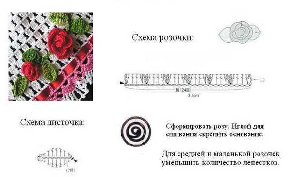 схема вязания цветка крючком (4)