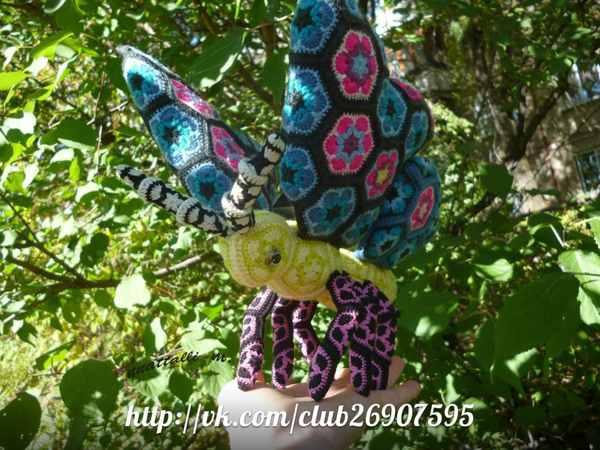 бабочка из африканских мотивов