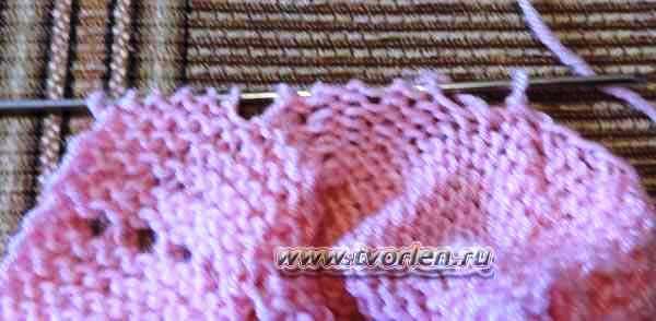 пинетки для новорожденного на двух спицах (11)