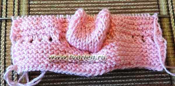пинетки для новорожденного на двух спицах (5)