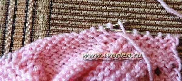 пинетки для новорожденного на двух спицах (7)