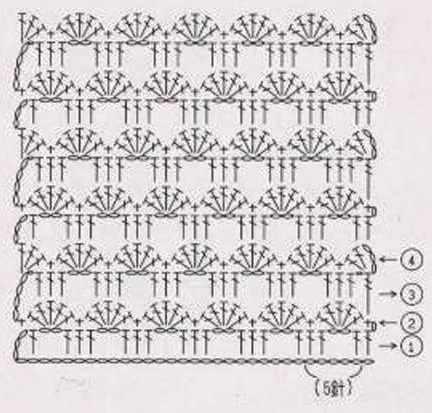 схема ажурного узора 15-1-1
