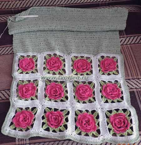 подушка из кружевных квадратов (2)