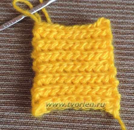 боснийское вязание - настоящая резинка крючком (9)
