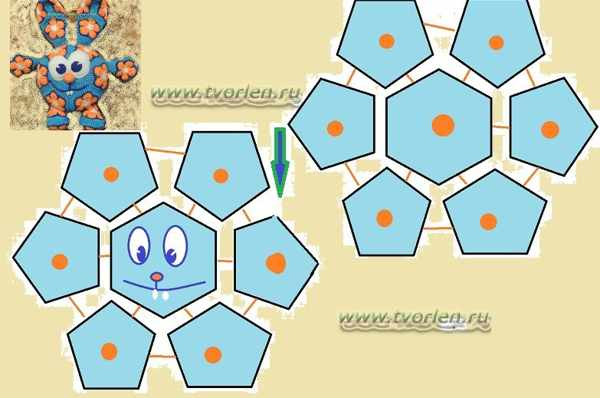 схема мячика из мотивов