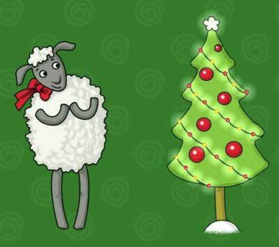 новый год овцы