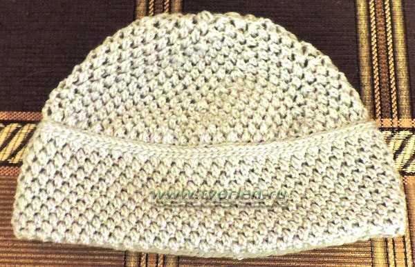 жемчужная шапка крючком (2)