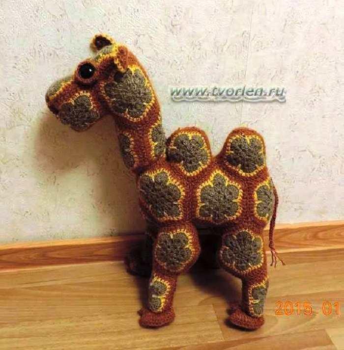 Верблюжья история…. или, как связать верблюда из мотивов. Схема сборки и описание