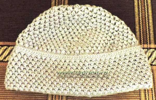 тёплая шапка крючком