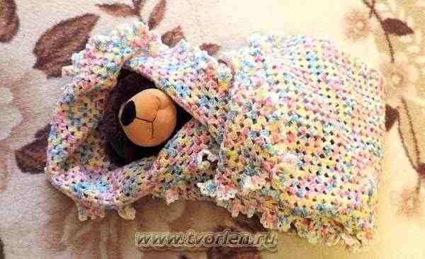 детское одеяло крючком