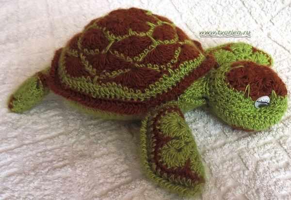 морская черепашка крючком из мотивов (4)